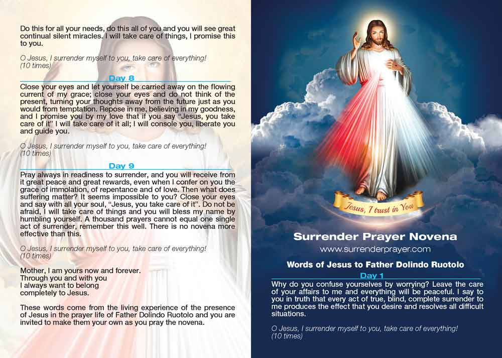 Surrender Prayer Card - Surrender prayer